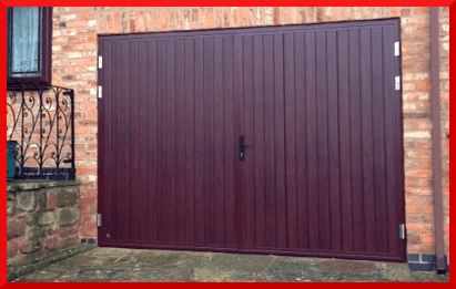 Ribbed Wood Garage Doors Garage Doors North Wales