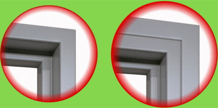 frame mouldings as additional option for doors fitted at the front or