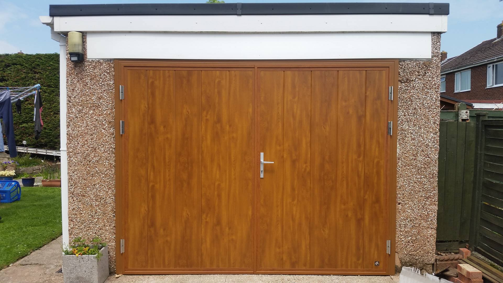 Side hinged door 2 garage doors north wales for Garage side entry door